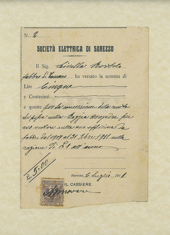 documento del 1911 di livella
